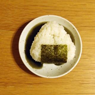 海苔の佃煮とかつお節のおにぎり