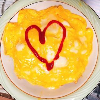 デミグラスソース風ライス&とろとろ卵のオムライス