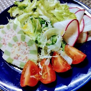バレンタイン♡テリーヌ(サラミ&チーズ)のサラダ