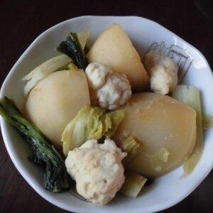 鶏団子とかぶのお鍋