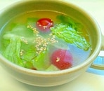 レタスとトマトの中華スープ