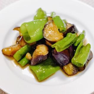 甘長とうがらしと茄子の炒め煮♩ご飯によく合います