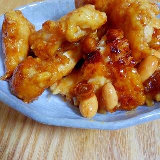 鶏肉とナッツの甘辛
