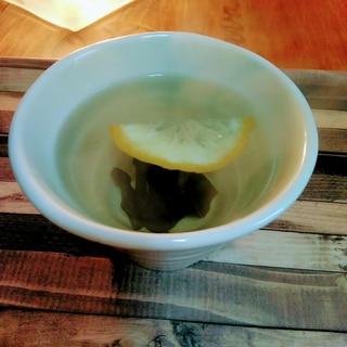寒~い日に♡体温まる柚子&生姜入りめかぶ茶♪