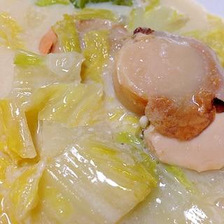 白菜とホタテの豆乳煮♡