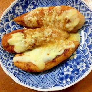 ニンニク醤油漬け★ササミのマヨチーズ焼き
