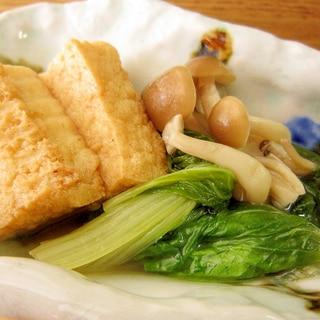 定番和食☆厚揚げとしろ菜の煮物