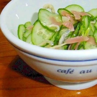 きゅうりの甘酢生姜和え