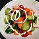 三色野菜のサラダ☆