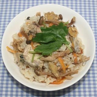 ヒルナンデス☆簡単☆乾燥生姜と鯖缶の炊き込みご飯