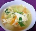 チンゲン菜のかきたまスープ