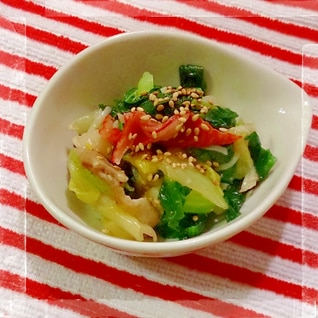 青梗菜・白菜・小松菜の中華炒め