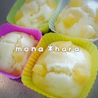 【HM】【離乳食後期】リンゴのヨーグルト蒸しパン