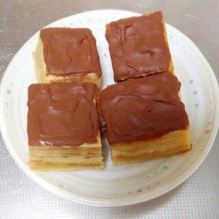 フライパンで作るチョコバームクーヘン