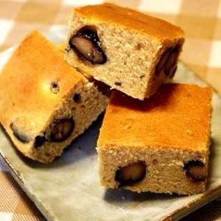 お節の残りで♪黒豆ときな粉のケーキ