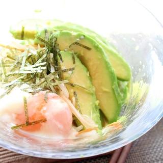 糖質オフ☆アボカドソテーの温たまサラダ