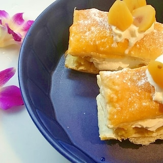 栗きんとんでつくる簡単パイケーキ