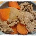 めんつゆで大根とにんじんと豚こまの放ったらかし煮物