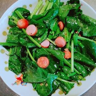 ほうれん草とウインナーのサラダ