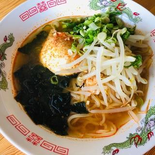 簡単にスープを☆辛いラーメン