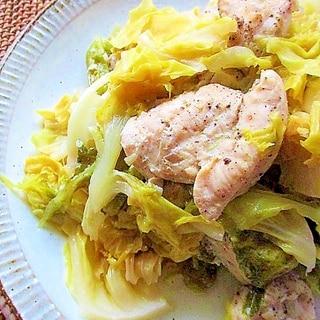 炊飯器で簡単!鷄むね肉とキャベツのカルアチキン風