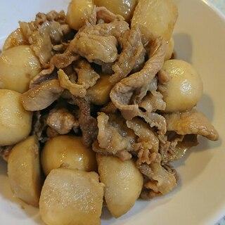 里芋と豚肉の炒め煮