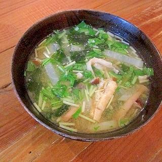 *大根と水菜の味噌汁*