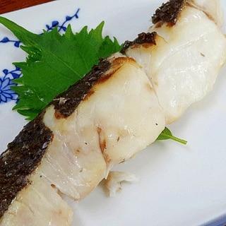 下味がコツ☆ 「ヒラメの塩焼」