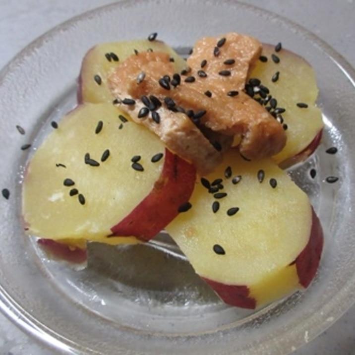 簡単!サツマイモと味付け油揚げで甘辛煮