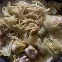 鶏胸肉と玉ねぎキャベツのパスタ風柔らか焼きそば