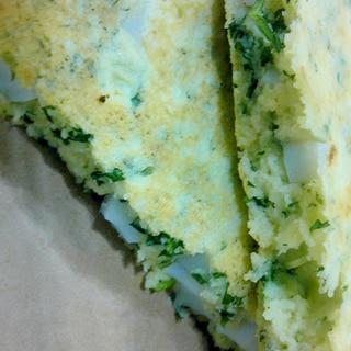 朝ご飯に米粉パンケーキ
