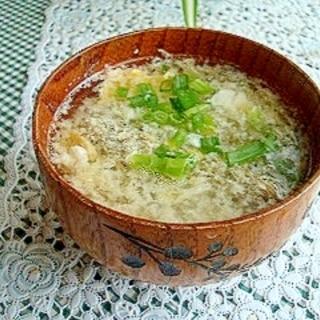 サンラータン風☆もずくスープ