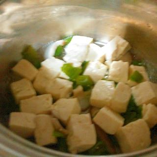豆腐といんげんの薄煮