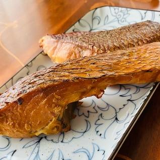 塩麹につけた鯛の燻製