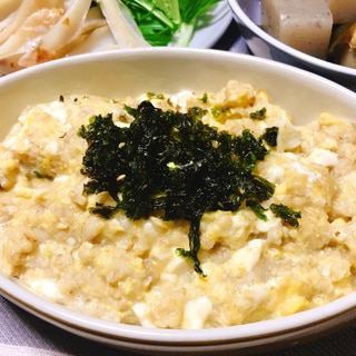 ダシダで!お豆腐と卵のオートミール粥