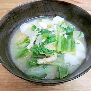 *葉野菜たっぷり♪キャベツと水菜の味噌汁*