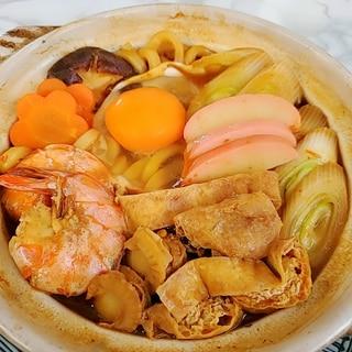 海老と帆立の味噌煮込みうどん