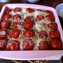 ミニトマトとナスで夏のグラタン