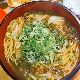 カレーリメイク☆節約カレーラーメン