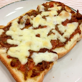 リメイク★ドライカレーのチーズトースト