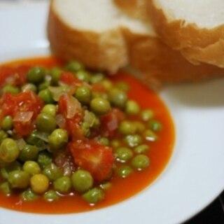 トルコ家庭料理★グリーンピースのトマト煮込み