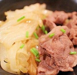 薄切りラム肉のキャベツ蒸し