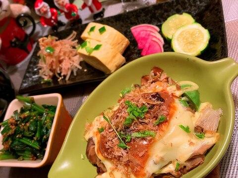 アボカドと茸のマヨチーズ焼き