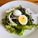 簡単ドレッシングで☆じゃこ(しらす)と卵サラダ
