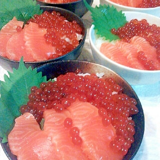 秋味♪海鮮親子丼!!