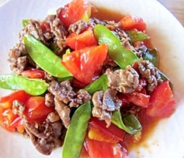 トマトと牛肉のオイスターソース炒め