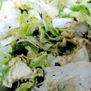 レタス大量消費!ごま油香るチョレギサラダ