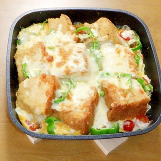 絶対美味しい♪味噌フレンチトーストのチーズ焼き