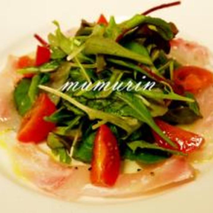 お酒と相性抜群★鯛のカルパッチョサラダ