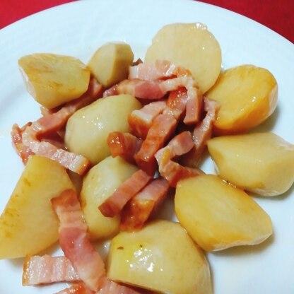 ベーコンの旨味が里芋にも行き渡って、コク深くなりますね。美味しかったです。